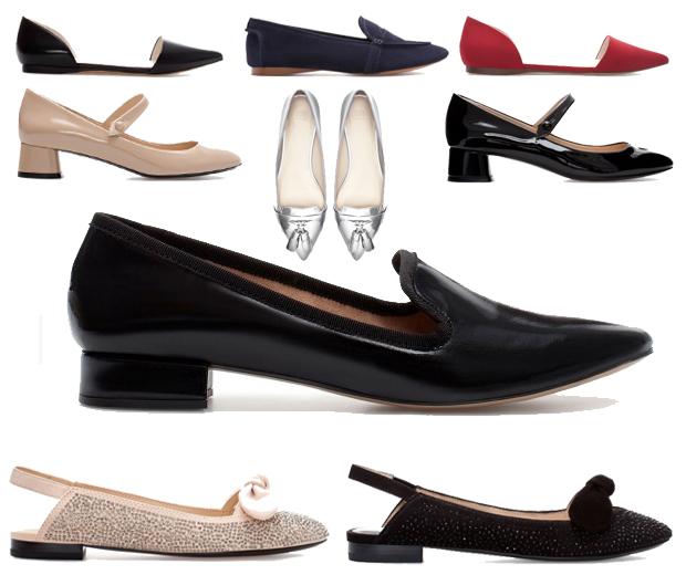 Zara collezione scarpe ballerine e slippers