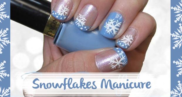 Tutorial unghie con fiocco di neve