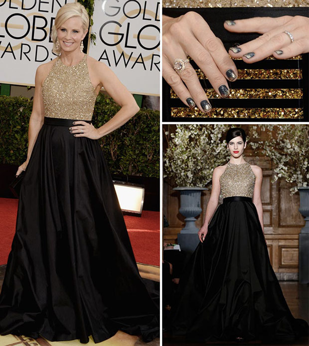 What Color Nail Polish With A Black Dress: Le Nail Art Del Golden Globe 2014