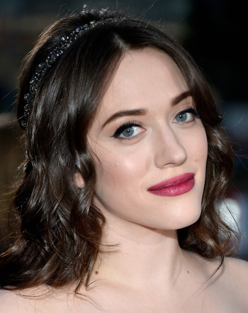 Kat Dennings beauty look