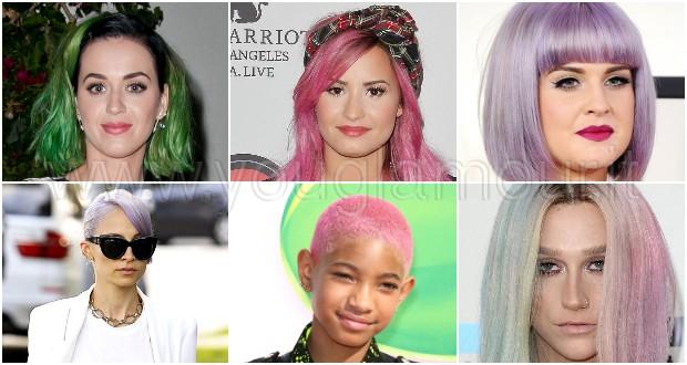 Rosa, verde, blu: le tinte per capelli più cool sfoggiate dalle star!