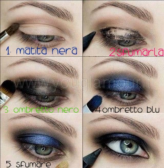 smoky eyes nero e blu