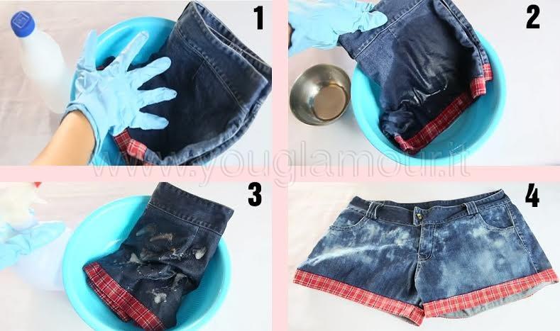 DIY: jsplatter bleach jeans