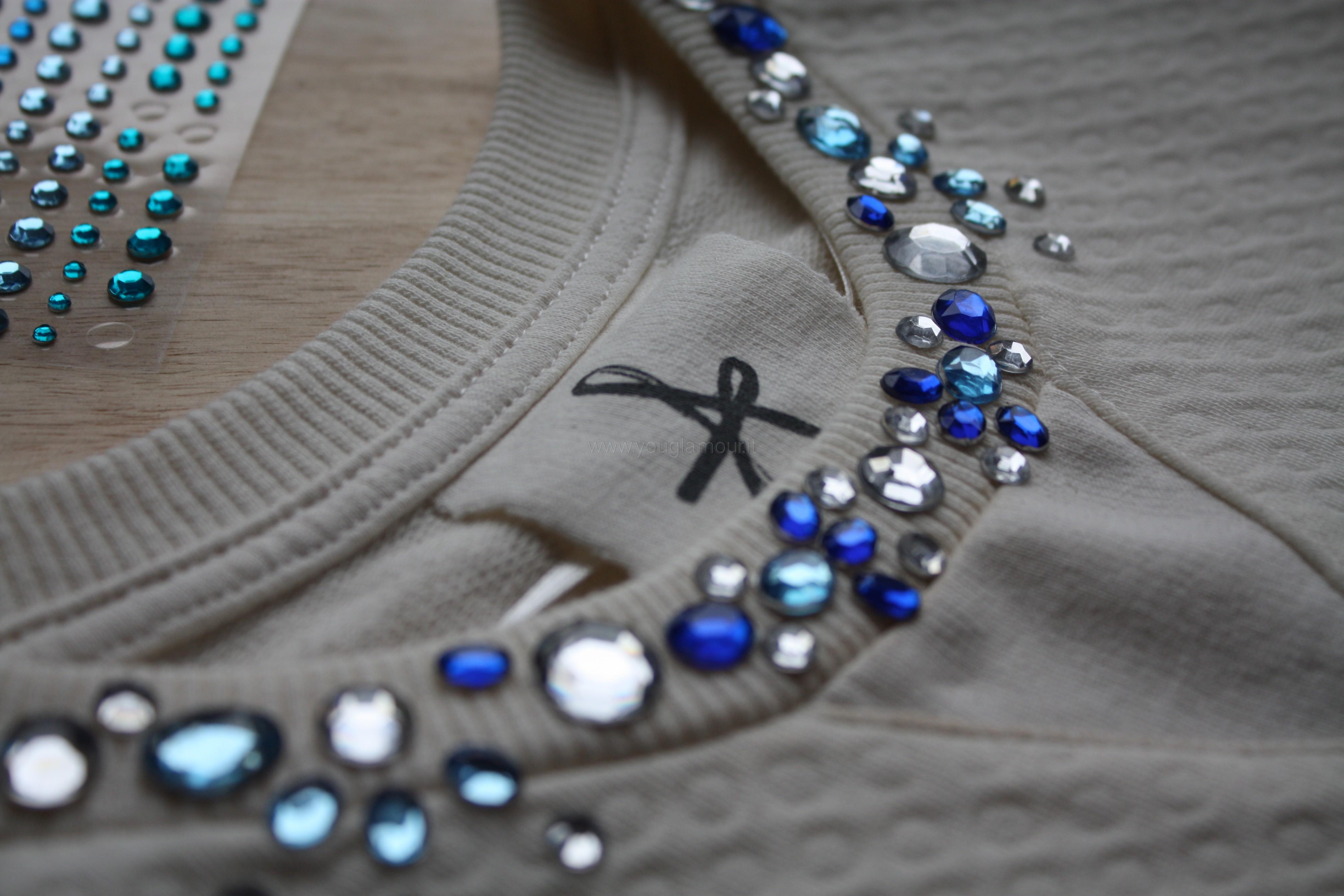 maglia con gemme