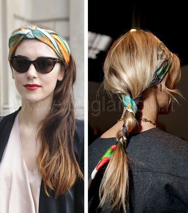 Tendenza estate 2014: il foulard tra i capelli