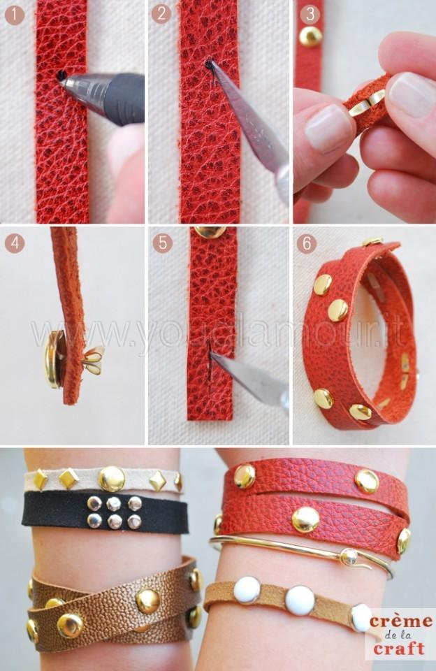 Realizzare un bracciale con le borchie