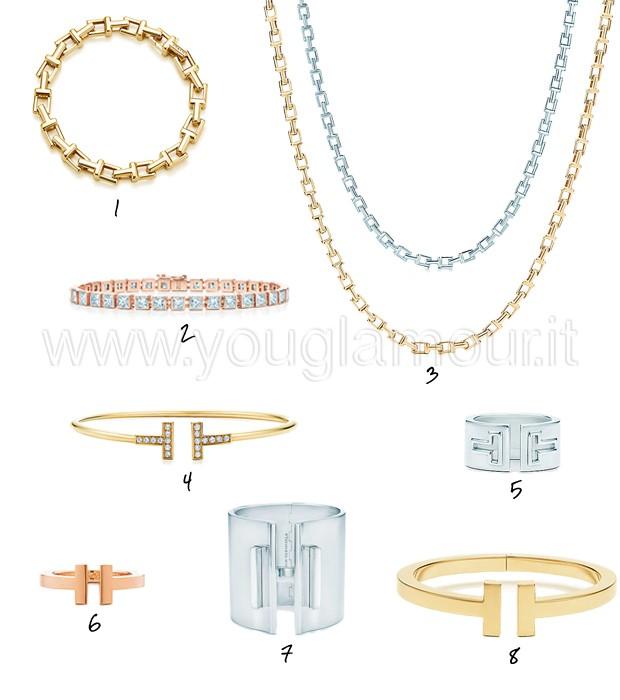 Gioielli Tiffany&Co collezione Tiffany T