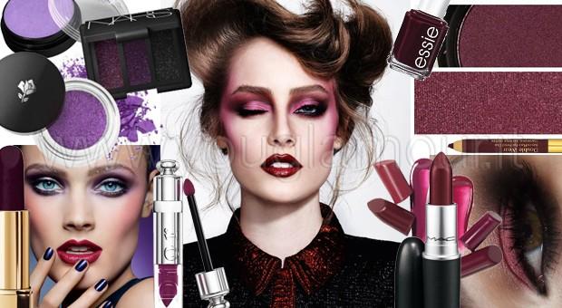Tendenza make-up autunno 2014- prugna, viola e rosso borgogna