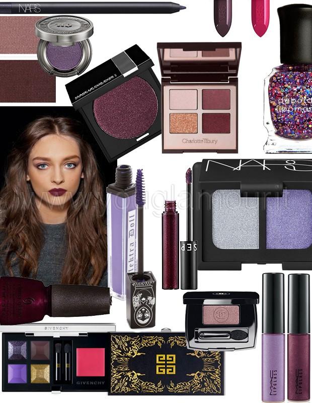 Tendenza make-up autunno 2014- prugna, viola e rosso