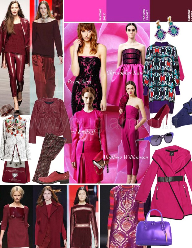 Trend autunno 2014- colori e capi must have borgogna, rosso e viola