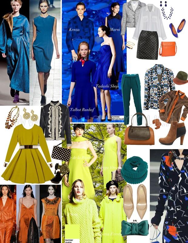 Trend autunno 2014- colori e capi must have giallo e blu