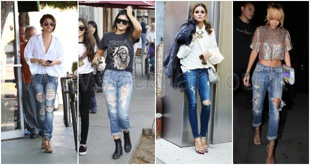 Jeans strappati: i modelli preferiti dalle stars!