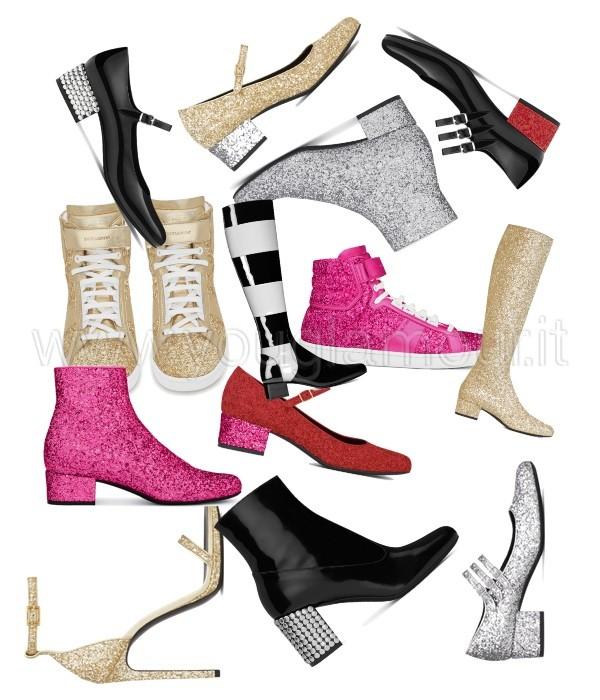 Saint Laurent Paris collezione scarpe inverno 2014