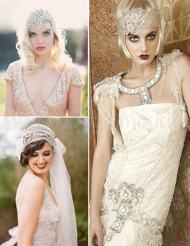 Abito da sposa vintage tweenties style
