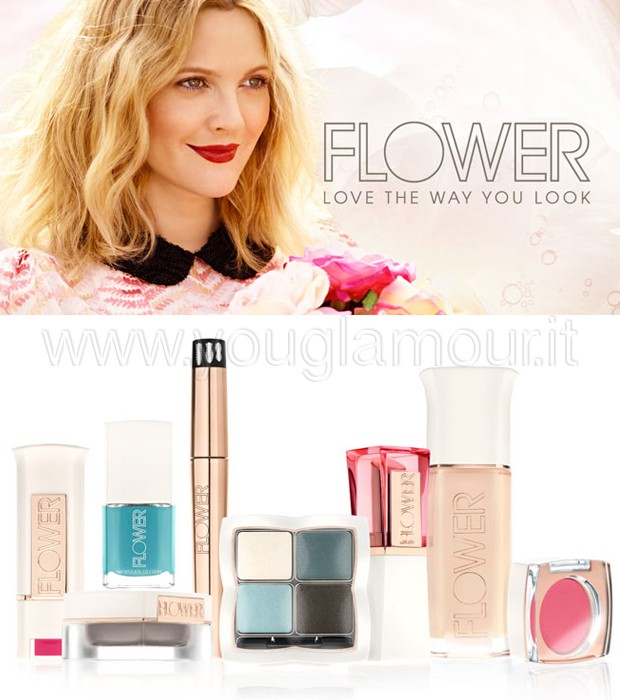 Drew Barrymore beauty look e la Flower Make Up Collection 2015