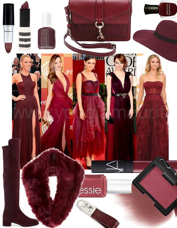 Pantone 2015- Marsala e sfumature del rosso