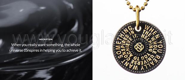 Pure Icons- collezione gioielli firmati Paulo Coelho collana oro sporco
