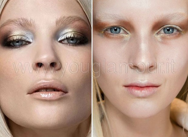 Make-up San Valentino 2014 oro e metal