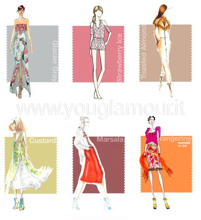 Pantone i colori della primavera estate 2015 colori caldi