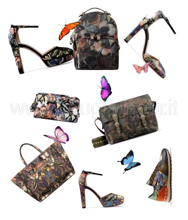 Valentino Camubatterfly scarpe e borse