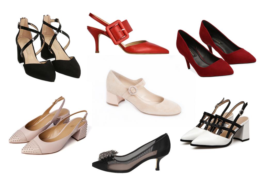 Decoltè tacco medio tendenza moda