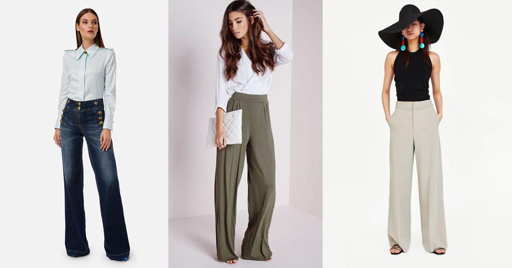 Pantaloni a palazzo tendenza moda abbigliamento