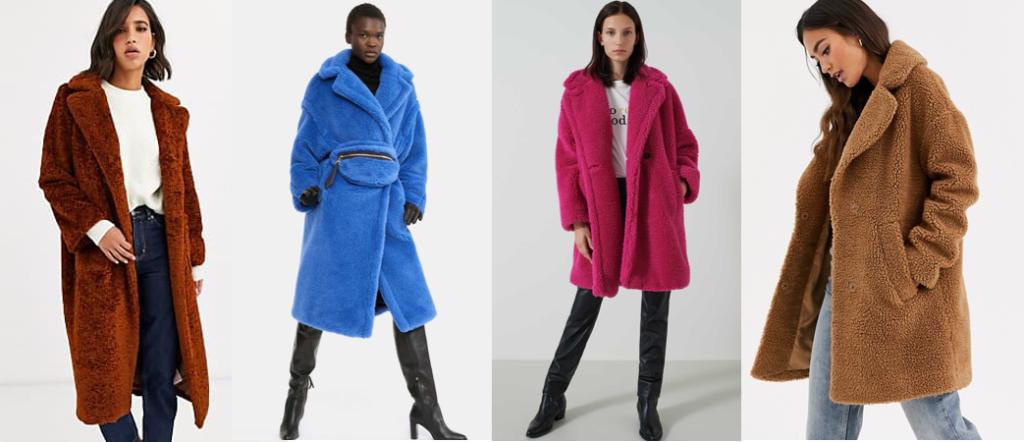 Teddy coat tendenza moda abbigliamento donna