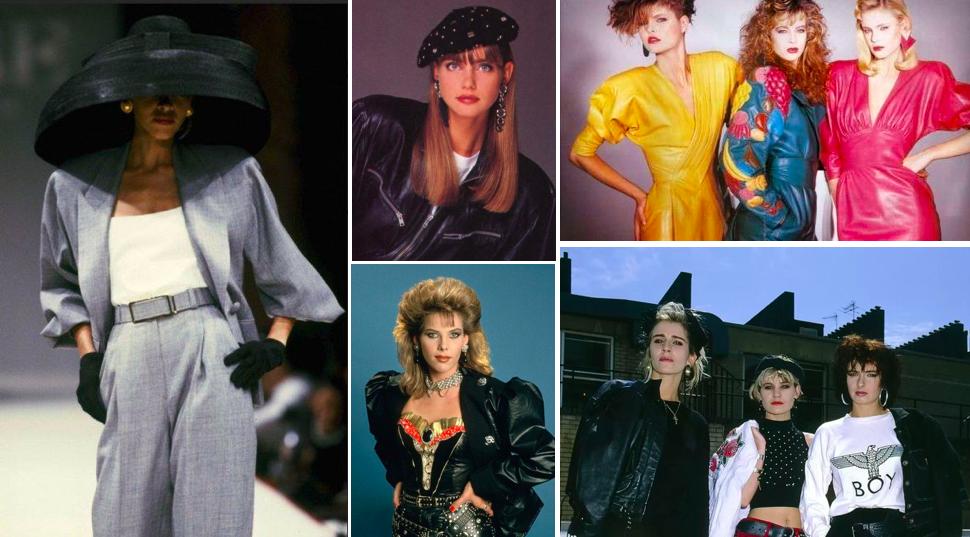Moda e Stile anni '80 manica a palloncino