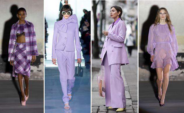 Millennial purple trend moda autunno inverno 2021